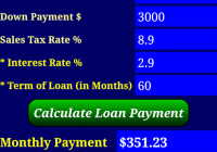 Car Payment Calculator App Elegant Car Loan Payment Calculator android Apps On Google Play