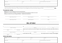 Car Sale Document Awesome Bill Of Sale form