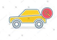 Car Search Luxury Auto Icon Car Search Sign Traffic Stock Vector Royalty Free