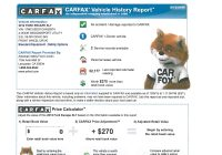 Carfax Lemon Check Lovely Vehicle History Report Example