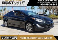 Carfax Used Cars Miami Unique 2015 Hyundai Elantra In Black for Sale In Miami Fl Used at Rick