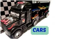 Cars for Boys Inspirational Truck with 6 Cars for Kids Boys toys by Ingrid Surprise Youtube