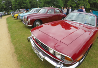 Cars for Sale Near Me In Uk Luxury Retro Cars On A Car Auction Ready for Sale In London Uk Stock Video
