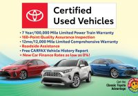Classic Car Carfax Awesome Certified Pre Owned toyota Program