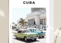 Classic Car Posters Awesome Cuba Classic Cars Print A3 Framed White