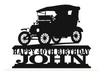 Classic Cars List Of Names New Personalised Acrylic Model T Year 1908 1927 Vintage American Classic Car Birthday Cake topper Decoration