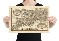 Classic Right Hand Drive Cars for Sale In Usa Best Of Pratts Plan Of the West Country 1932 somerset Dorset Devon Cornwall Old Vintage Car Map Esso Standard Framed Unframed Gift