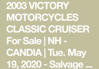 Classic Salvage Cars for Sale In Usa Beautiful 2003 Victory Motorcycles Classic Cruiser for Sale Nh Candia
