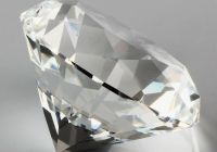 Crystal White Fresh Crystal White Paperweight Cut Glass Giant Diamond Jewel