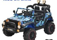 Electric Ride On Cars Luxury Kids Ride On toys Car Remote Control Electric Power Wheel Jeep 3