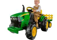 Electric Ride On toys for toddlers Luxury Peg Perego John Deere Ground force Tractor with Trailer