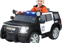 Electric Vehicles for Kids Fresh Rollplay Chevy Tahoe Police Suv 6 Volt Battery Powered Ride On