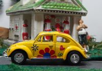 Flower with Vw Beetle Awesome 1967 Volkswagen with Flowers 1 32 Scale