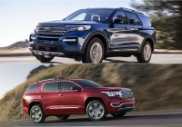 Ford 2020 Suv New 2020 ford Explorer Vs 2019 Gmc Acadia How the Pare
