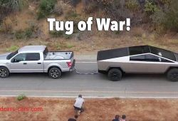Elegant ford Tesla Tug Of War