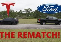 Ford Tesla Tug Of War Awesome Tesla Vs ford the towing Tug Of War Rematch Kinda