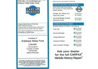 Full Carfax Report Fresh Vehicle History Report Example