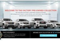 Gm Used Cars Elegant Gm Factory Pre Owned Collection Website Takes Used Car Salespeople