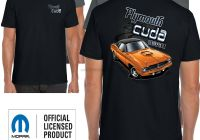 Graveyard Carz Used Cars for Sale Luxury Plymouth Cuda T Shirt Genuine American Retro Classic Mopar Muscle Car Clothing