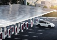 How Much is Tesla solar Roof Fresh Tesla Supercharger V3 Futuristic Station is Final Piece Of