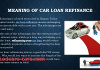 How to Refinance A Car Loan Elegant What is Car Loan Refinance and Whats the Best Time for It