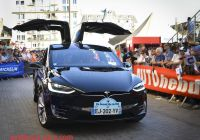 Is Tesla American Unique Parade Electric Trams In Bucharest Romania Editorial
