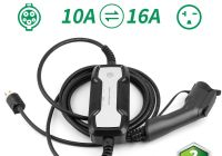 J1772 to Tesla Adapter Lovely Details About Portable Ev Car Charger Level 2 Charging Cable 10a 16amp J1772 Nema 6 20 Evse