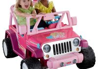 Jeep Ride On toy Luxury Power Wheels Barbie Jammin Jeep Wrangler 12 Volt Battery Powered