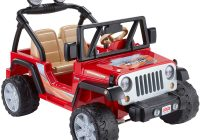 Kids Electric Jeep Lovely Power Wheels Jeep Wrangler Red toys Games