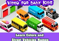 Kids Vehicles Best Of Video for Baby Kids Learn Colors and Street Vehicles