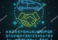 Lease A Used Car Near Me Unique Car Leasing Deal Neon Light Concept Stock Vector Royalty