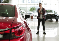 Looking for A Car to Buy Best Of Selective Focus On Car Lights Bearded Man Looking thoughtfully at