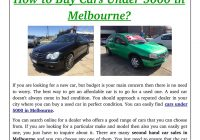 Looking for A Used Car Unique How to Cars Under 5000 In Melbourne by Used Cars Brooklyn