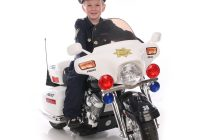 Motorized Ride On toys Awesome Kid Motorz Police Motorcycle 12 Volt Battery Powered Ride On