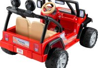 Motorized Ride On toys Awesome Power Wheels Jeep Wrangler 12 Volt Battery Powered Ride On Red