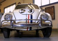 Movie with Vw Beetle Beautiful the Real Herbie at the Swigart Museum In Huntingdon Pa