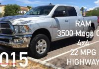 Ram 3500 Mpg Inspirational 2015 Ram 3500 Mega Cab Diesel 4×4 Mpg Highway Srw Youtube