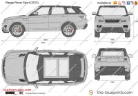 Range Rover Sport Dimensions Awesome Range Rover Sport Vector Drawing