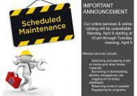 Scheduled Maintenance Elegant Scheduled Maintenance Starting tonight April 8 at 10pm