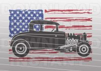 Scrap Classic Cars for Sale Usa Fresh Patriotic Hot Rod Svg File Distressed Usa Flag Svg Classic Car Svg Vector Art Mercial & Personal Use Cricut Cameo Silhouette Vinyl