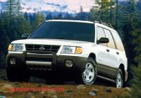 Subaru forester 1999 Luxury 1999 Subaru forester Information