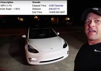 Tesla 1/4 Mile New Tesla Model 3 Clocks 0 60 Mph In 4 6 Sec and 1 4 Mile In