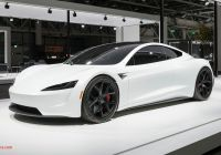 Tesla 2020 Roadster New 2020 Tesla Roadster Makes European Debut Dressed In White