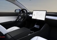 Tesla 3 Interior New First Look at Tesla Model 3 with New White Interior for