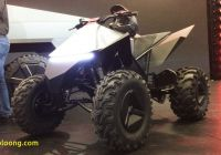 Tesla 4 Wheeler New the Electric Tesla atv Makes Way More Sense Than the