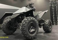 Tesla 4 Wheeler Price Best Of Teslas Cyberquad atv Will Ship as An Add On for the