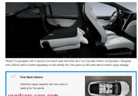 Tesla 5 Seater New Tesla Updates Model X 5 Seater with Fold Flat Second Row