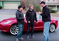 Tesla 6.3 Elegant Tesla Model 3s Headroom Put to the Test with 67 Tall Driver