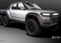 Tesla 6×6 Fresh Rivian R1t Rendered as High Riding 6 Wheeled Off Road
