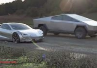 Tesla and Spacex Unique Tesla Cybertruck and Roadster Face Off for some Backroad